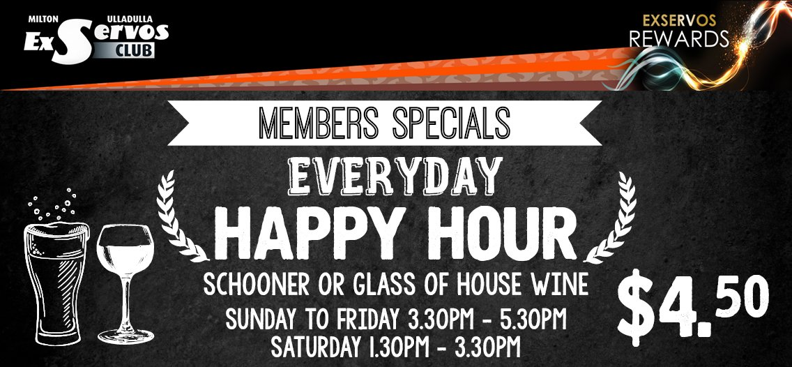 Happy Hour EveryDay!