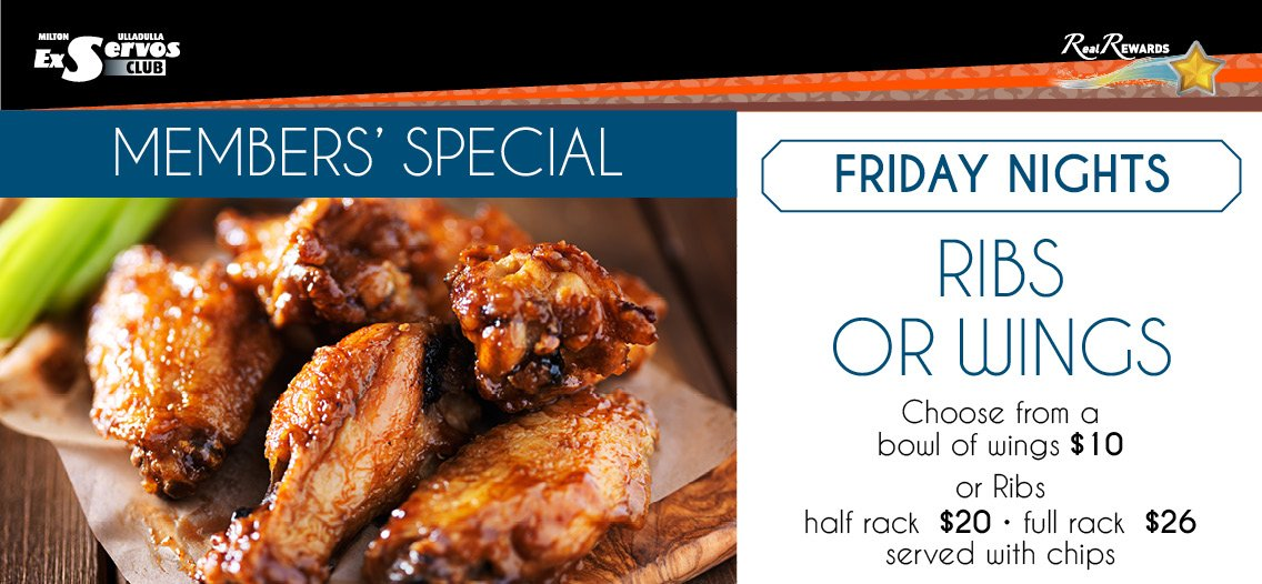 Friday Ribs or Wings