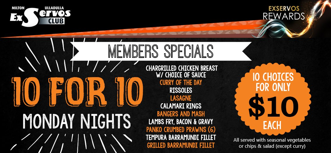 Monday Nights 10 for 10