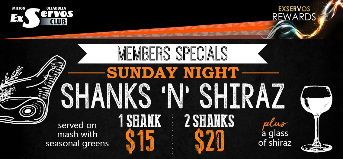 Shanks n Shiraz Sunday Night